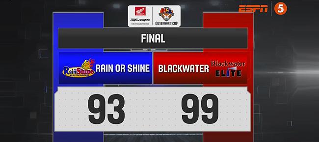 Blackwater def. Rain or Shine, 99-93 (REPLAY VIDEO) October 7