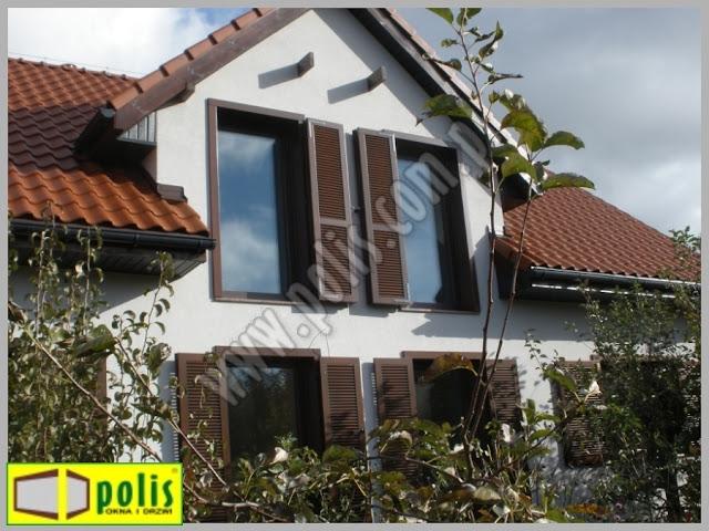 okiennice zewnętrzne, okiennice Gdańsk, okiennice producent, okiennice z drewna,
