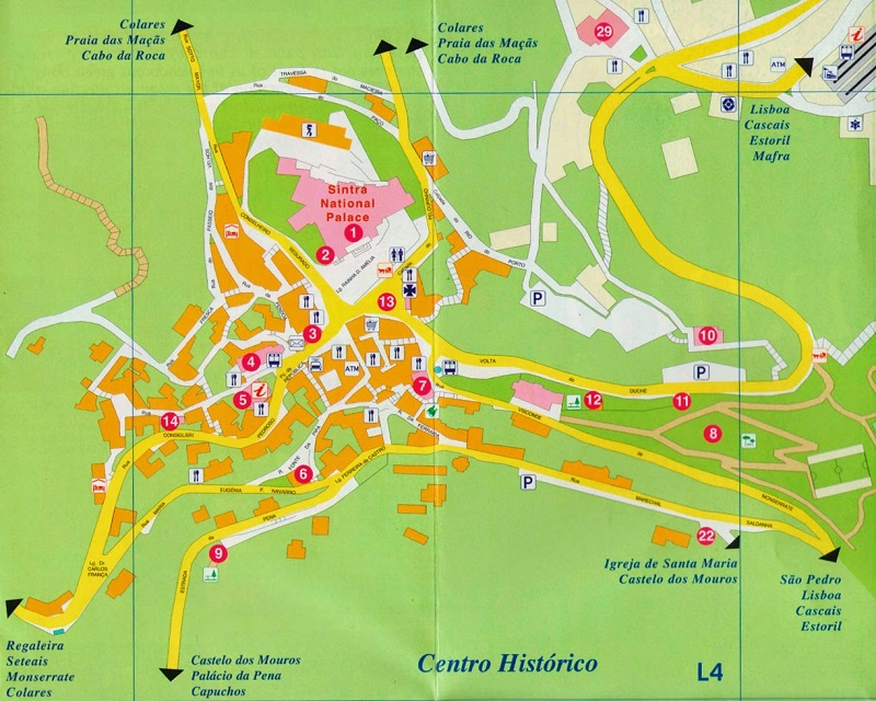 mapa sintra Mapa turístico de Sintra | Dicas de Lisboa e Portugal mapa sintra