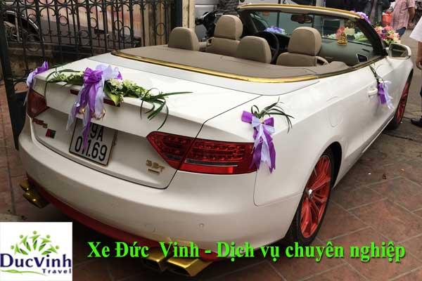 Cho thuê xe cưới mui trần Audi A5 màu trắng VIP