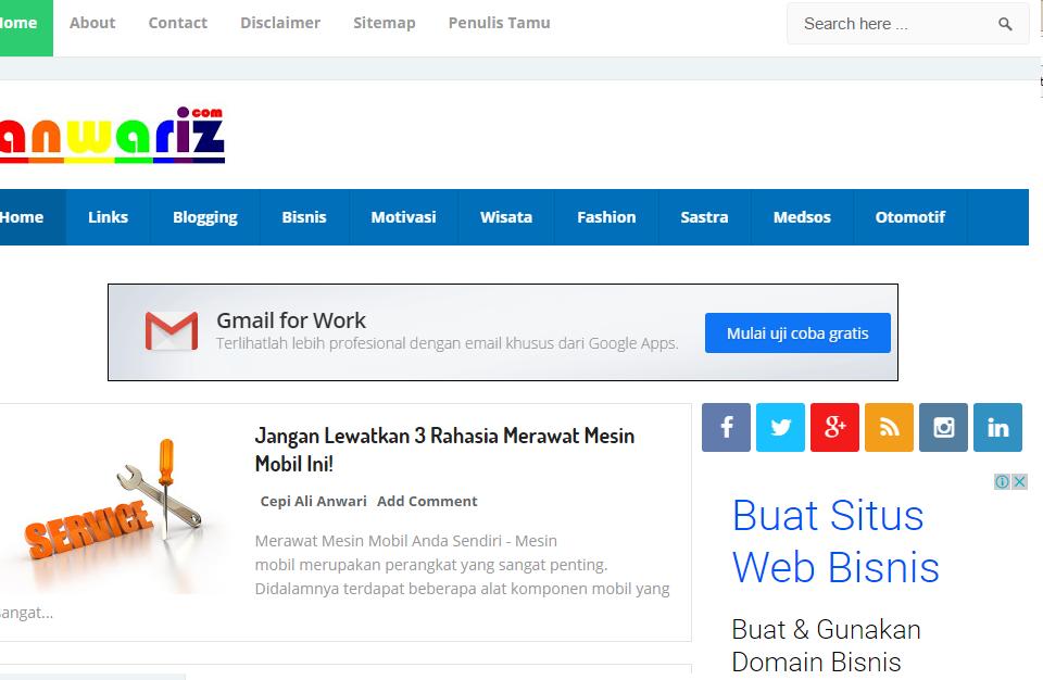Blog Terbaik dan Terpopuler Di Google Indonesia 2016 - News