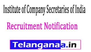 Institute of Company Secretaries of India ICSI Recruitment Notification 2017
