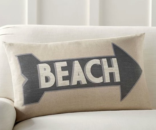 Beach Arrow Pillow Cover