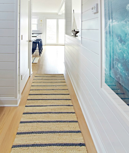 Coastal Nautical Runner Rugs That Make An Entry Entryway