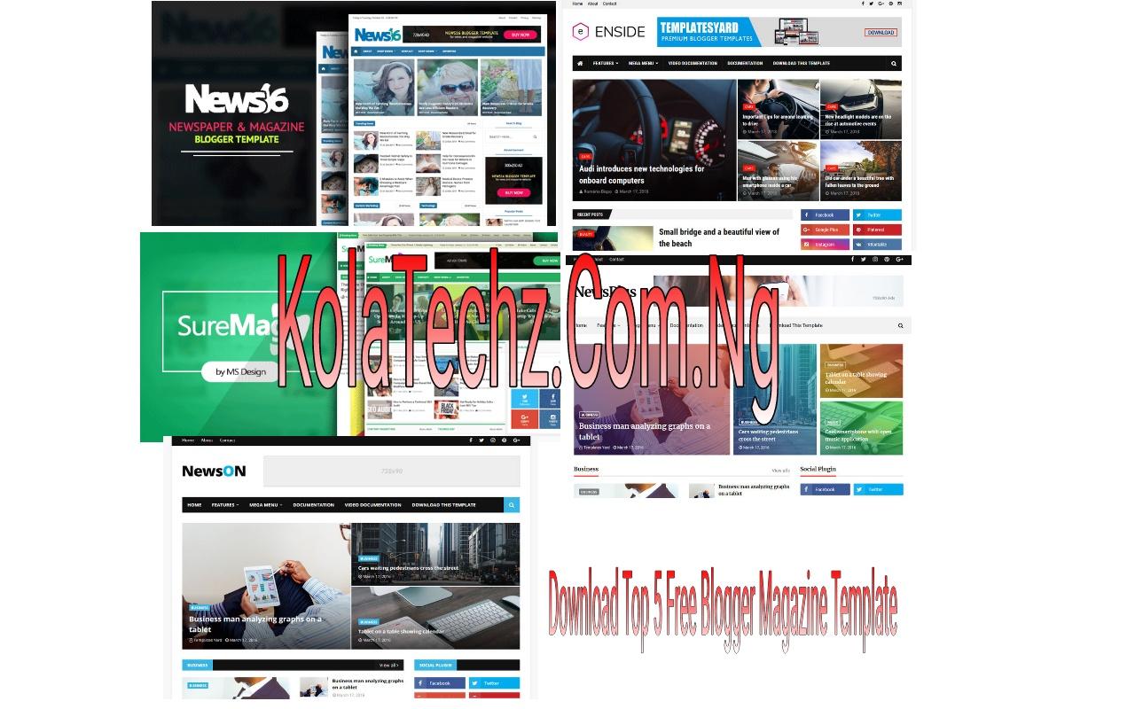 Download Top 5 Free Blogger Magazine Template Naijahometech