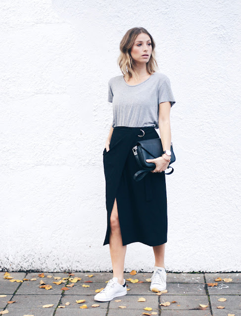 abbinamento sneakers e gonna come abbinare sneakers e gonna sneakers and skirt how to wear sneakers and skirt street style tendenza estate 2016 mariafelicia magno fashion blogger color block by felym fashion blogger italiane