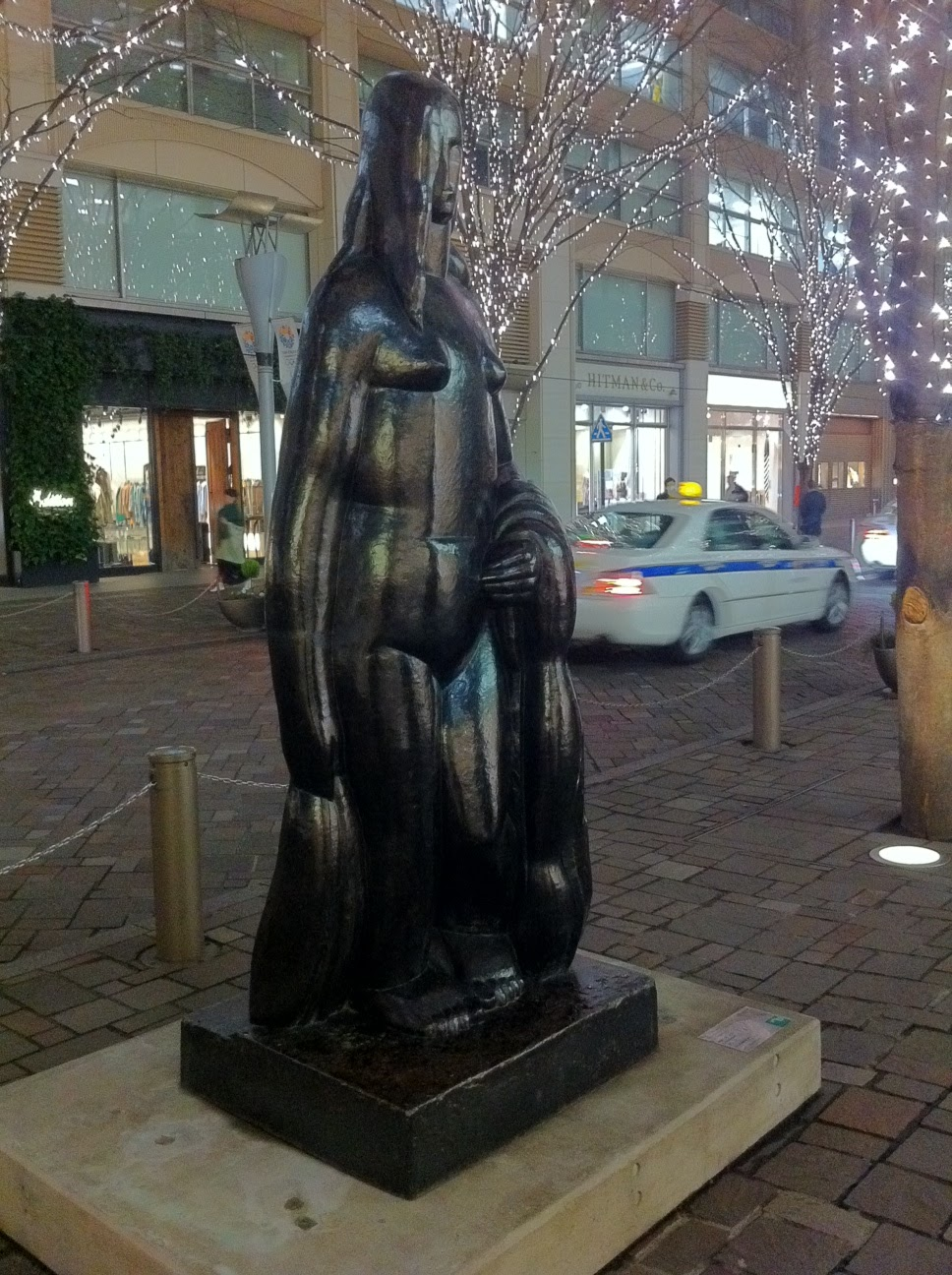 Henri Laurens sculpture, Femme Debout, in Marunouchi, Tokyo.