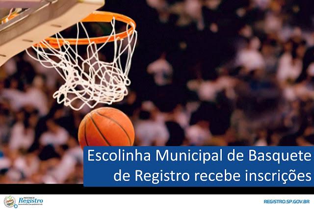 Escolinha Municipal de Basquete recebe inscrições em Registro-SP