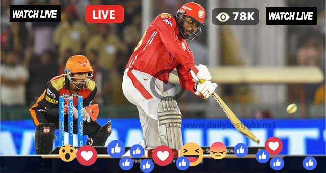 SRH vs KXIP Live Streaming Online IPL Today's Match
