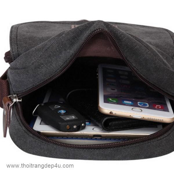 Túi đeo chéo nam vải bố tiện lợi VF278