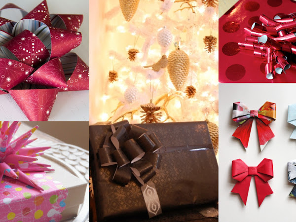 7 DIY Bows to Make with Leftover Wrapping Paper - Twelve Days of Christmas