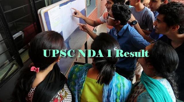 UPSC NDA 1 Result