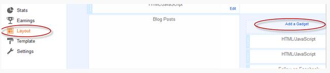 menambahkan widget di layout blogspot
