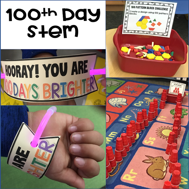 100th Day of School Easy No Prep STEM activities to engage your students