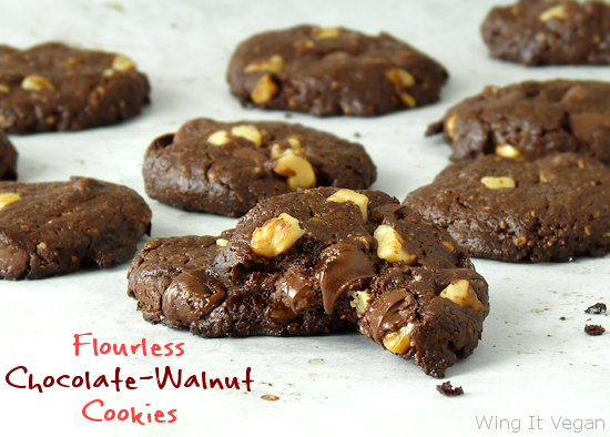 Wing It Vegan: Flourless Chocolate-Walnut Cookies (and the ...