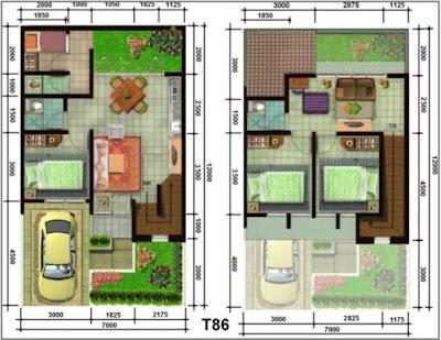 Plan Minimalist Modern 2 Floors