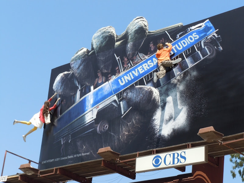 Universal's King Kong 3D ride billboard