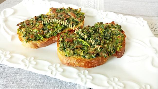Kahvaltılık Ispanaklı Ekmek