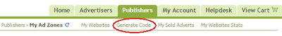 how to generate ad code in adhitz