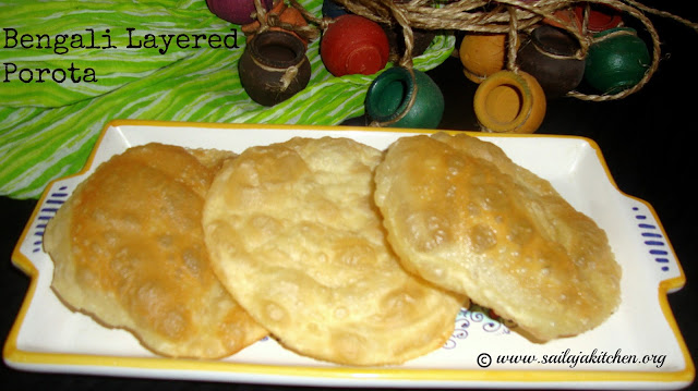 images of Bengali Layer Porota / Bengali Dhakai Paratha / Fried Layered Parota / Layered Flaky Fried Bread