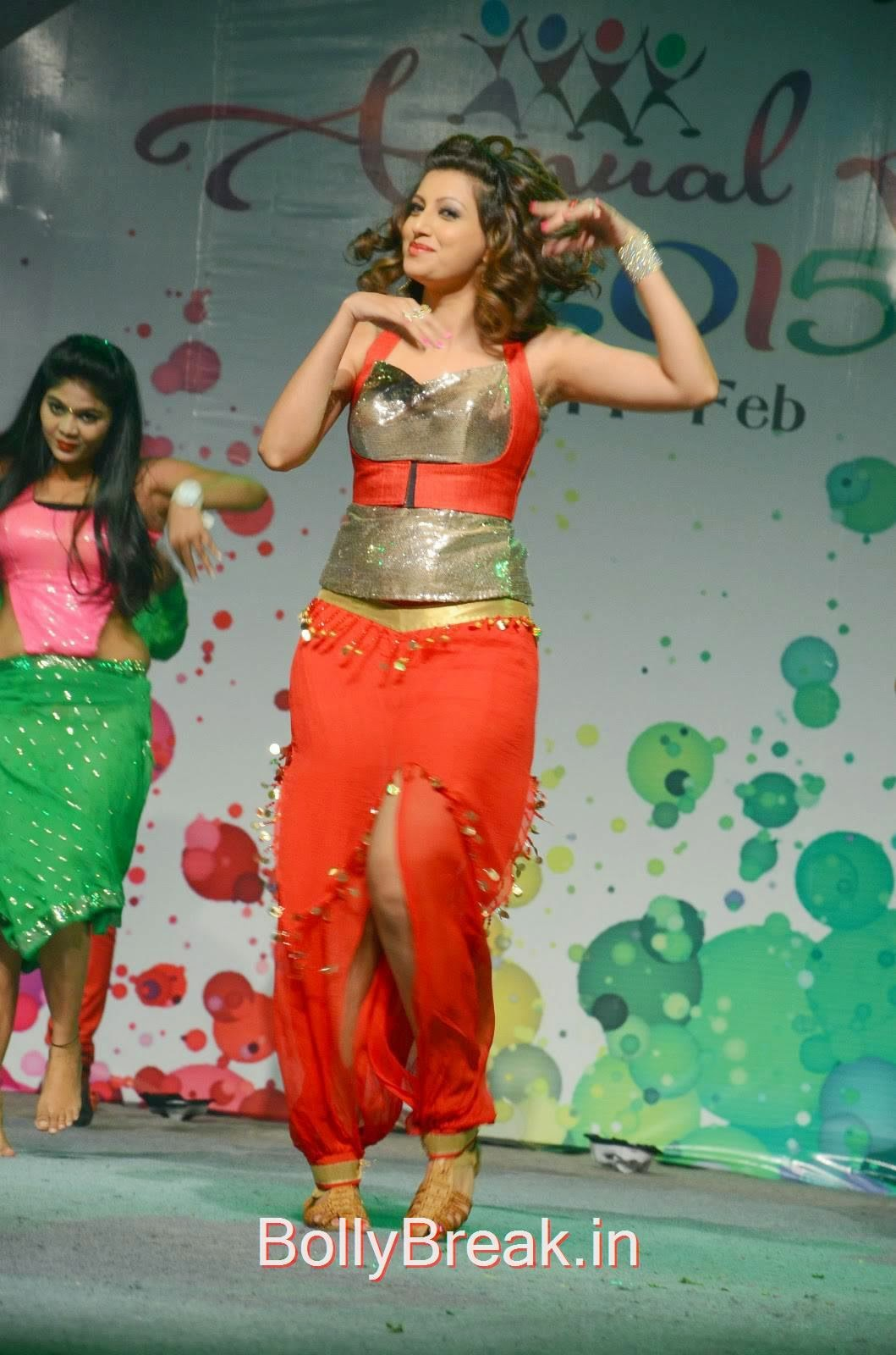 Hamsa Nandini images, Hamsa Nandini Hot Pics While Dancing in Red and Silver Dress