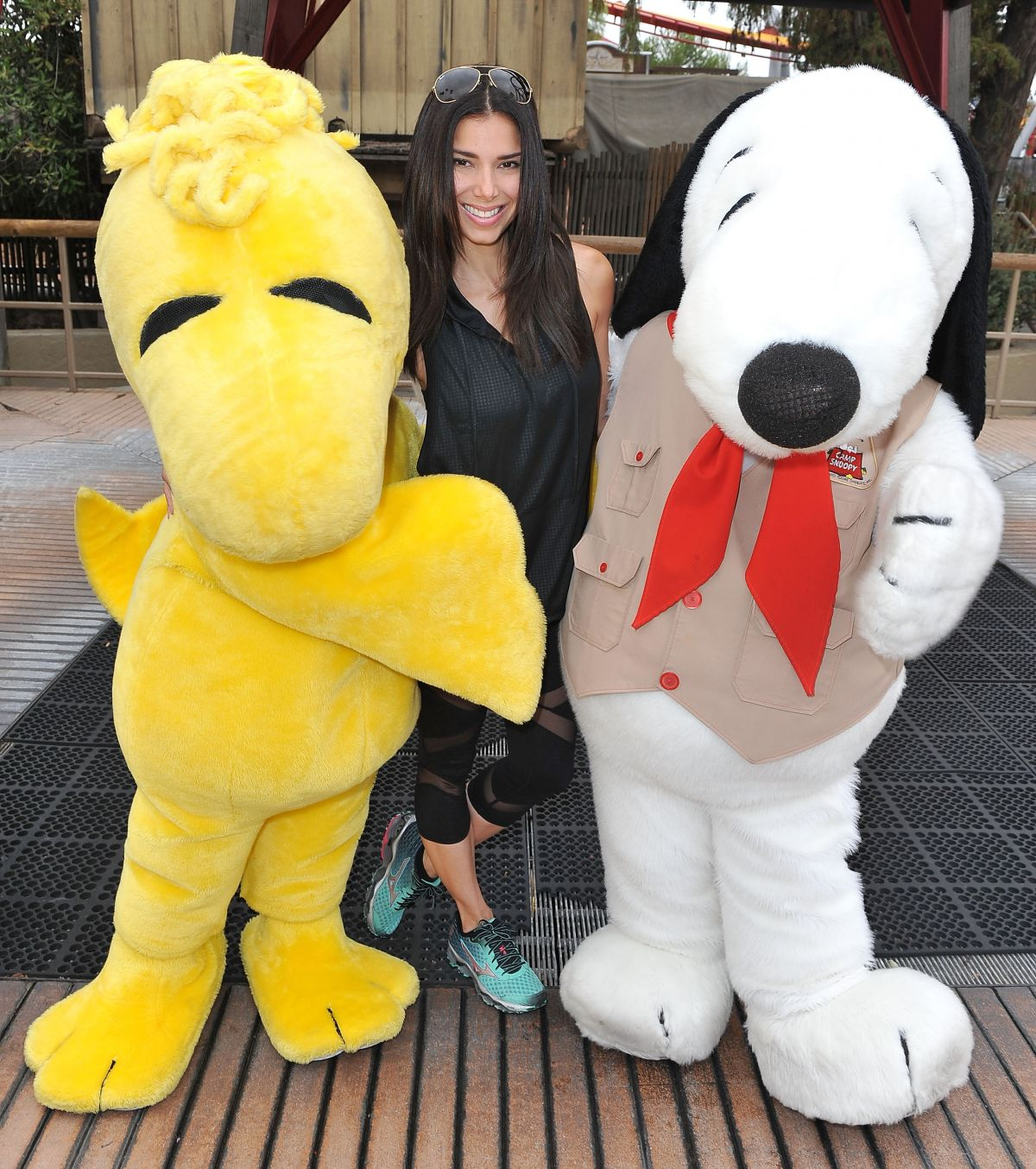 HQ Photos of Roselyn Sanchez at Camp Snoopy Knott's Berry Farm in Buena Park