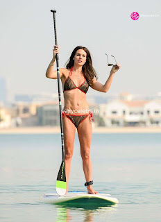 Danielle Lloyd ultra  body huge    in tiny bikini WOW Beach Side  Pics Celebs.in Exclusive 013