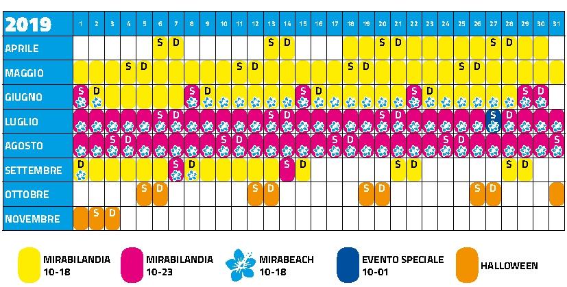 Calendario Mirabilandia.Al Via La Grande Stagione 2019 Di Mirabilandia