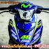 Sơn xe máy Exciter 150 tem đấu phong cách Movistar cực đẹp
