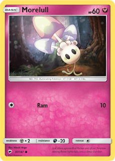 Morelull Burning Shadows Pokemon Card