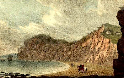 Sands near Chit Rock, Sidmouth    from A new guide descriptive of the beauties of Sidmouth    by Rev Edmund Butcher (1830)