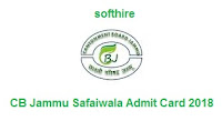 CB Jammu Safaiwala Admit Card