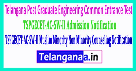 TSPGECET-AC-SW-II Muslim Minority Non Minority Counseling Notification 2018