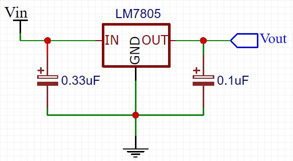 Typical use of LM7805