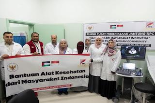 Bantuan Alat Kesehatan pada Rumah Sakit di Gaza