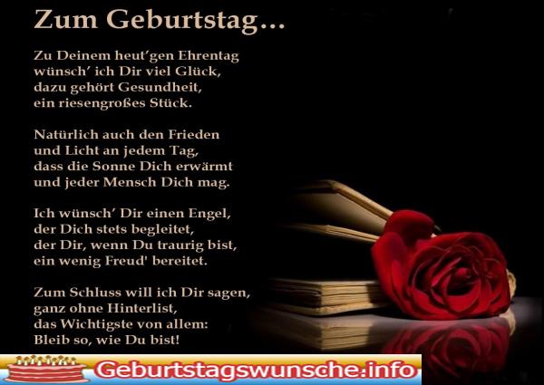 Schöne Geburtstag Gedichte - Wünsche zum Geburtstag
