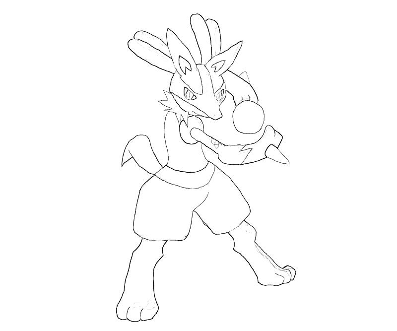 coloring pages of lucario | Lucario Character | Temtodasas