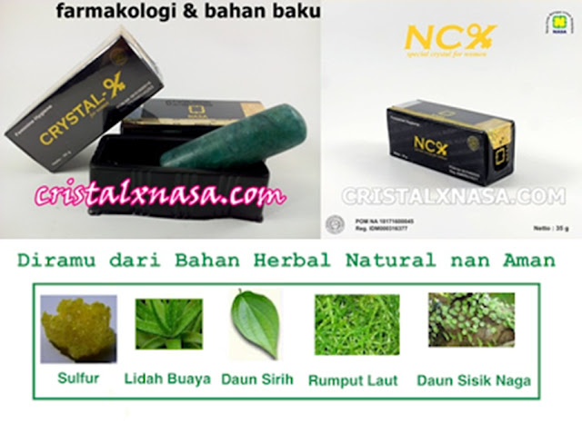 farmakologi kandungan bahan baku ncx nasa cristal x