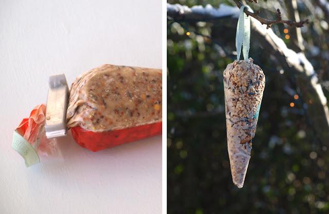 Pynt haven op til jul med spiselige kræmmerhuse til fuglene