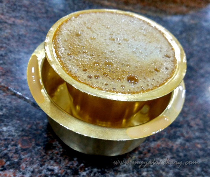 Filter Coffee at Hotel Guru in Rameshwaram, Tamil Nadu