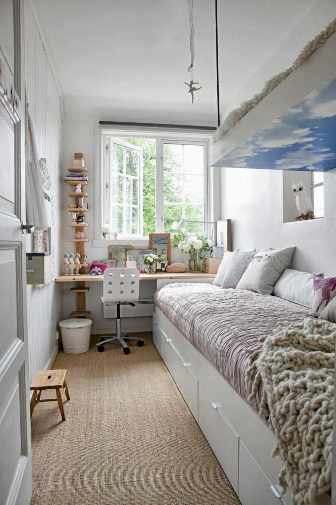 Dormitorios infantiles muy peque os c mo decorar una for Como decorar un cuarto infantil