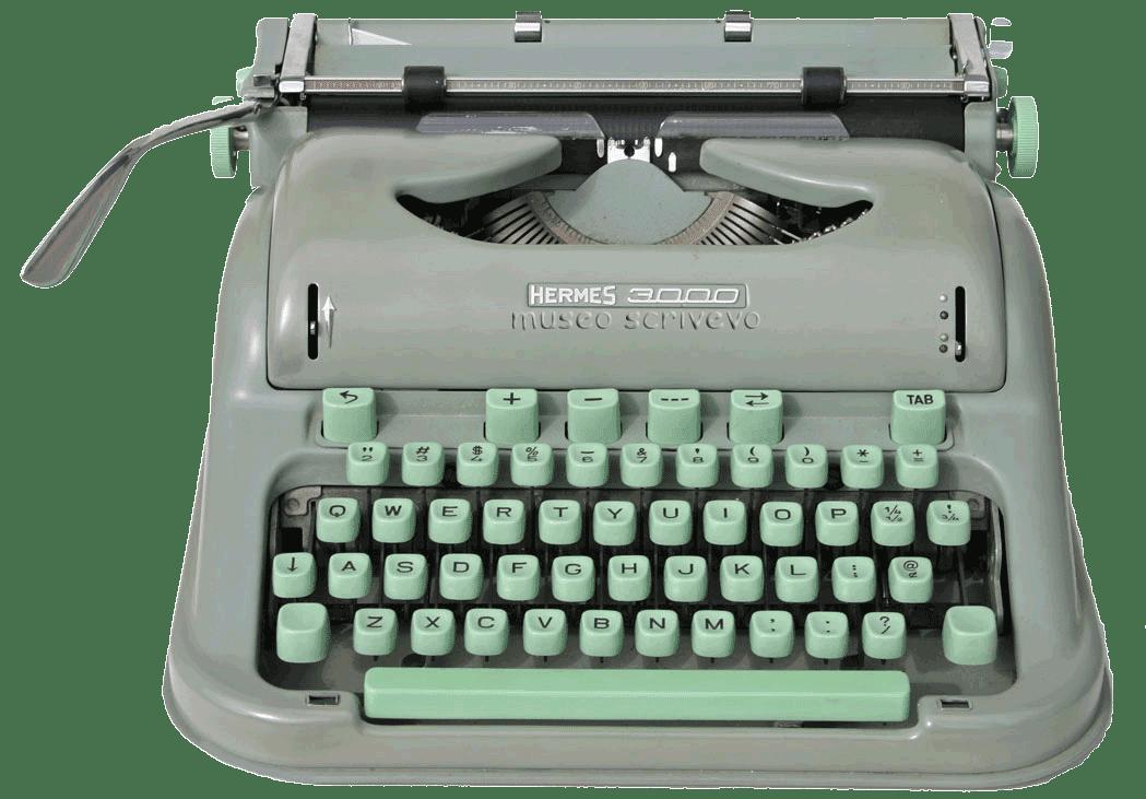 typewriter la macchina per scrivere macchine per scrivere la hermes 3000. Black Bedroom Furniture Sets. Home Design Ideas