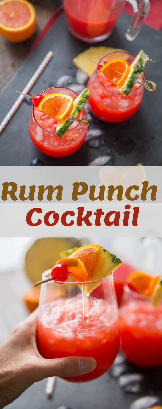 Easy Rum Punch Cocktail