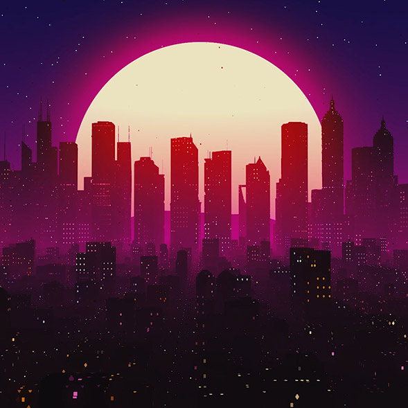 Synthwave City Wallpaper Engine