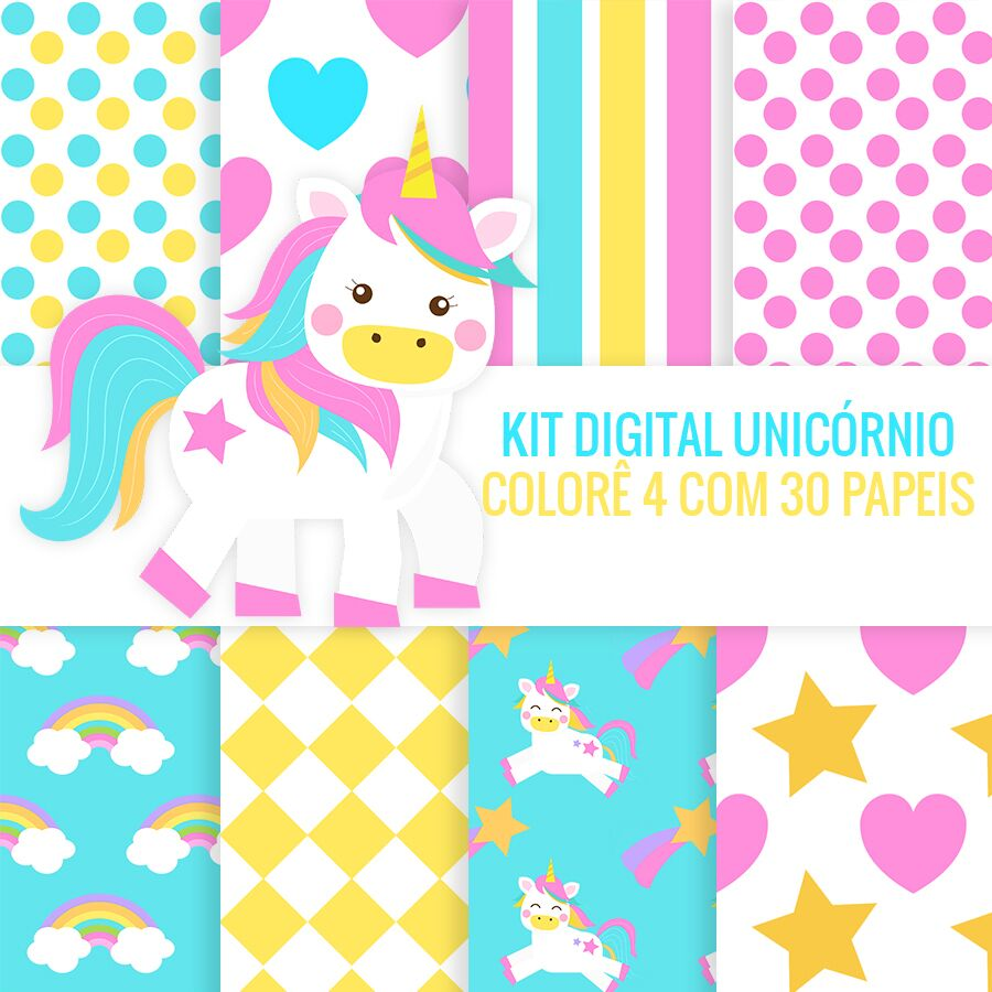 Folder Preview Papel Digital Unicornio