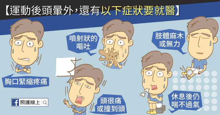 運動後頭暈要小心,醫師圖文解說(懶人包) - 照護線上