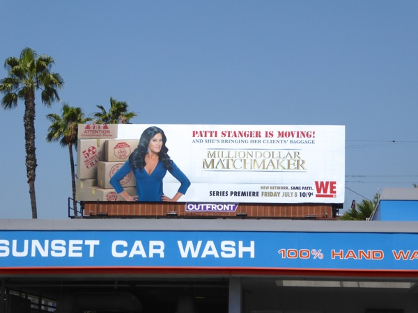 Million Dollar Matchmaker WE TV billboard
