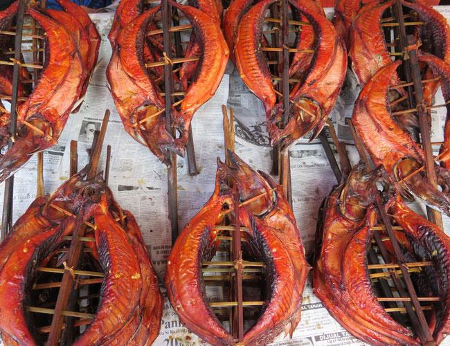 Xvlor Cakalang fufu is smoked skipjack tuna by Minahasa community