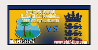 Match Prediction Tips by Experts Eng vs WI 3rd ODI