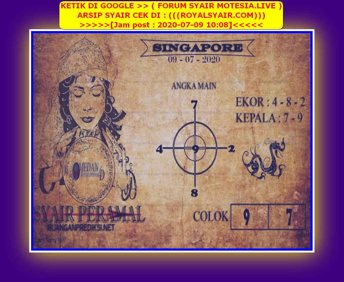 Kode syair Singapore Kamis 9 Juli 2020 173